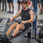 Harry Newbury-Lee MALE HEAVYWEIGHT U19 2K Race #6  09:45am<br /> <br /> <br /> www.rowingcelebration.com Competing on Concept 2 ergometers at the 2018 NZ Indoor Rowing Championships. Avanti Drome, Cambridge,  Saturday 24 November 2018 © Copyright photo Steve McArthur / @RowingCelebration