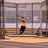 Reagan Fedak in action during the 2018 Canada West Track & Field Championship on February  24 at James Daly Fieldhouse. Credit: Arthur Ward/Arthur Images