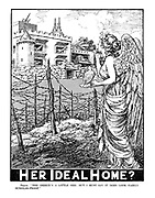 """HER IDEAL HOME? Peace. """"The Design's a little odd, but I must say it does look fairly burglar-proof."""""""