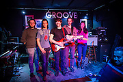 New York, NY. - February 4, 2017. The Bliss Jockeys at The Groove in GReenwich Village.