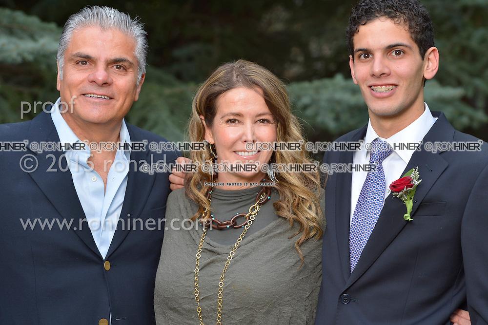 Vail Mountain School Prom Night; Juan Carlos Aziz, Norma Azis, Charlie Aziz