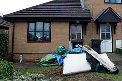 © Licensed to London News Pictures. 09/12/2012. Newbury, UK. The house of Tanya Lynch, 50, who died in a fire Saturday night, Bodin Gardens, Newbury. Photo credit : Rebecca Mckevitt/LNP