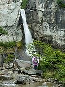 View of Cascada Margarita near El Chalten, Los Glaciares National Park, Santa Cruz Province, Argentina