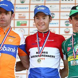 Sportfoto archief 2011<br /> Podium NK Pim Ligthart, Bram Tankink, Reinig Honig