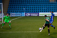 GOAL 1-1: Rochdale midfielder Jimmy Keohane (13) scores a GOAL 1-1 during the EFL Sky Bet League 1 match between Gillingham and Rochdale at the MEMS Priestfield Stadium, Gillingham, England on 23 January 2021.