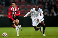Fotball 22-10-2009  , europa league , PSV Eindhoven -- FC København seizoen 2009-2010 . Aktie van stanislav manolev . dame n'doye .<br /> Norway only