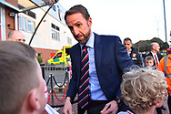 England manager Gareth Southgate arrives at the Vitality Stadium ahead of the U21 International match between England and Germany at the Vitality Stadium, Bournemouth, England on 26 March 2019.