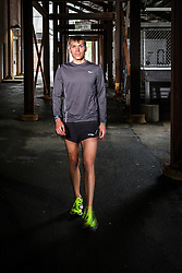 Ben True, elite runner, works out at Dartmouth track