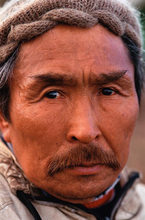 Chukchi hunter Anatolyi Ranautagin, Chukotka, Siberia, Russia, Arctic