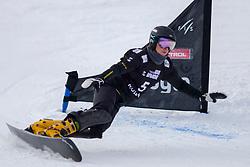 Natalia Soboleva (RUS) during Final Run at Parallel Giant Slalom at FIS Snowboard World Cup Rogla 2019, on January 19, 2019 at Course Jasa, Rogla, Slovenia. Photo byJurij Vodusek / Sportida