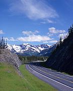 Alaska. Seward Highway, a scenic byway, empty of cars.