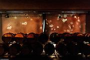 """Magrè, Tenuta Tòr Löwengang, Installazione video dell'artista Mario Airò """" NInna nanna per barrique e archi"""""""