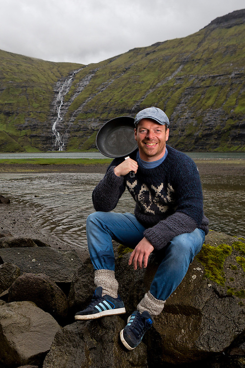 Gutti Winther, a famous Faroese chef, believes in using nature in his cooking.