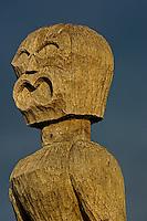 Thom Hogan 2007 Hawaii Photography Workshop: Day 2  Ki'I (Tiki, wooden images) at Pu'uhonua o Honaunau National Historic Park
