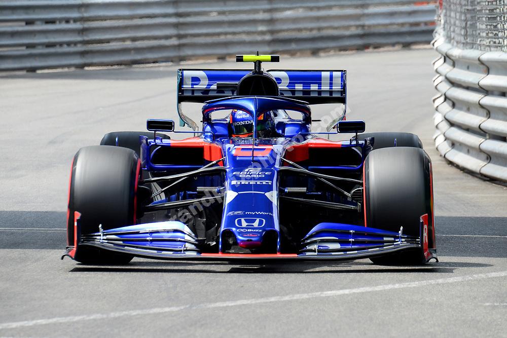 Alexander Albon (Toro Rosso-Honda) during qualifying for the 2019 Monaco Grand Prix. Photo: Grand Prix Photo