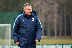 Tomaz Kavcic during Press conference and official training of Slovenian national football team before friendly match against Belarus, on March 26, 2018 in National Football Centre, Brdo pri Kranju, Kranj, Slovenia. Photo by Ziga Zupan / Sportida