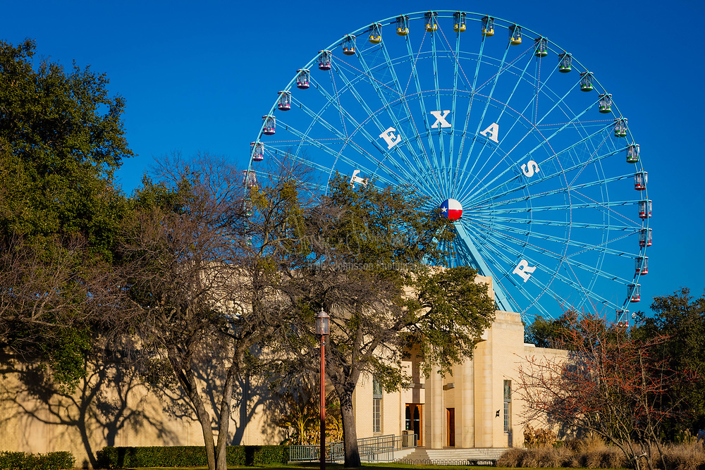 Fair Park is a recreational and educational complex in Dallas, Texas, United States, located immediately east of downtown. The 277-acre (112 ha) area is registered as a Dallas Landmark and National Historic Landmark; many of the buildings were constructed for the Texas Centennial Exposition in 1936.<br /> <br /> Fair Park has been designated a Great Place in America by the American Planning Association.