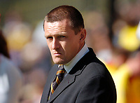 Photo: Leigh Quinnell.<br /> Watford v Sheffield United. Coca Cola Championship.<br /> 17/09/2005. Watfords manager Adrain Boothroyd unhappy.