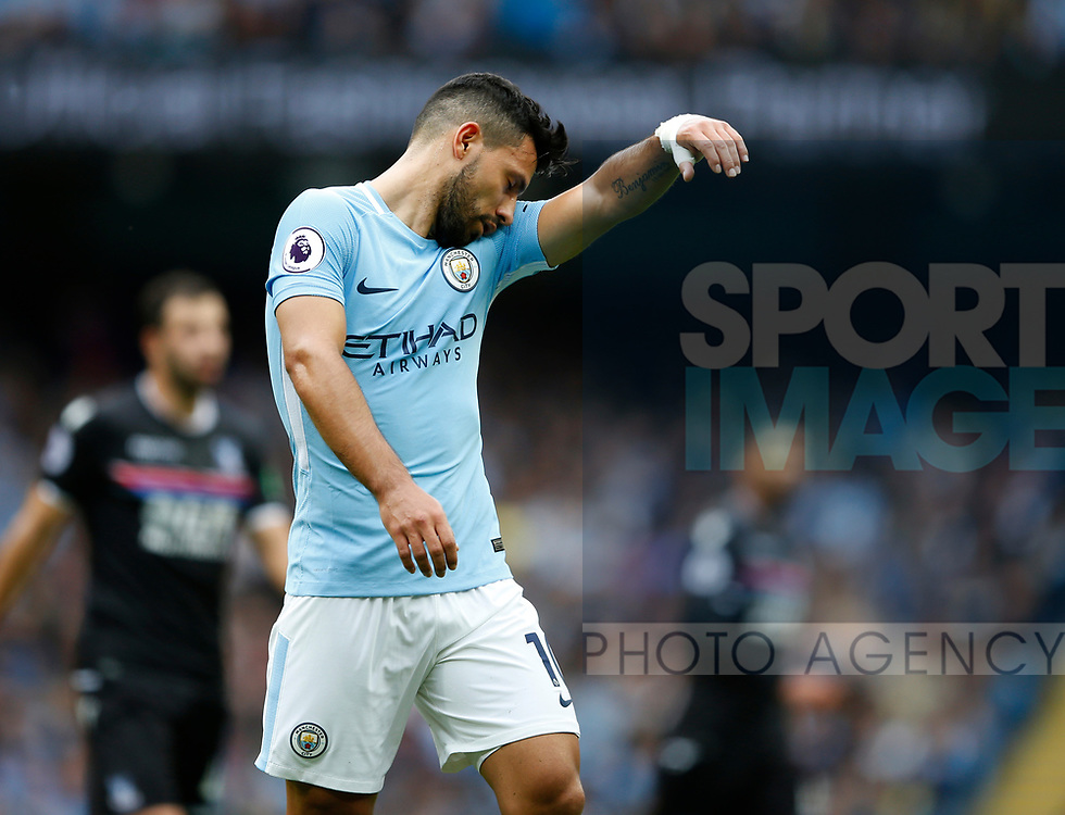 Sergio Aguero of Manchester City during the premier league match at the Etihad Stadium, Manchester. Picture date 22nd September 2017. Picture credit should read: Simon Bellis/Sportimage