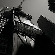 Construction of Jean Nuveau's modern masterpiece Tower Verre on 53rd street in Manhattan