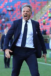 """Foto LaPresse/Filippo Rubin<br /> 27/04/2019 Bologna (Italia)<br /> Sport Calcio<br /> Bologna - Empoli - Campionato di calcio Serie A 2018/2019 - Stadio """"Renato Dall'Ara""""<br /> Nella foto: ESULTANZA SINISA MIHAJLOVIC (ALLENATORE BOLOGNA F.C.)<br /> <br /> Photo LaPresse/Filippo Rubin<br /> April 27, 2019 Bologna (Italy)<br /> Sport Soccer<br /> Bologna vs Empoli - Italian Football Championship League A 2017/2018 - """"Renato Dall'Ara"""" Stadium <br /> In the pic: CELEBRATION SINISA MIHAJLOVIC (BOLOGNA'S TRAINER)"""