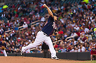 Vance Worley #49 of the Minnesota Twins pitches against the Boston Red Sox on May 17, 2013 at Target Field in Minneapolis, Minnesota.  The Red Sox defeated the Twins 3 to 2.  Photo: Ben Krause