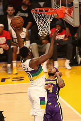 February 27, 2019 - Los Angeles, CA, U.S. - LOS ANGELES, CA - FEBRUARY 27: New Orleans Pelicans Center Julius Randle (30) during the first half of the New Orleans Pelicans versus Los Angeles Lakers game on February 27, 2019, at Staples Center in Los Angeles, CA. (Photo by Icon Sportswire) (Credit Image: © Icon Sportswire/Icon SMI via ZUMA Press)
