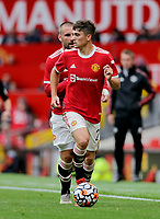 Football - 2021 / 2022 Pre-Season Friendly - Manchester United vs Everton - Old Trafford - Saturday 7th August 2021<br /> <br /> Daniel James of Manchester United with full back Luke Shaw in support, at Old Trafford.<br /> <br /> COLORSPORT/ALAN MARTIN