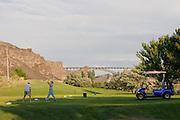 Golfers at Twin Falls, Idaho