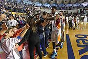 DESCRIZIONE : Campionato 2014/15 Virtus Acea Roma - Enel Brindisi<br /> GIOCATORE : Melvin Ejim<br /> CATEGORIA : Postgame Ritratto Esultanza<br /> SQUADRA : Virtus Acea Roma<br /> EVENTO : LegaBasket Serie A Beko 2014/2015<br /> GARA : Virtus Acea Roma - Enel Brindisi<br /> DATA : 19/04/2015<br /> SPORT : Pallacanestro <br /> AUTORE : Agenzia Ciamillo-Castoria/GiulioCiamillo