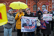Moscow, Russia, 04/12/2011..Russian opposition supporters demonstrate on Manezhnaya square outside the Kremlin calling for a boycott of the parliamentary elections.