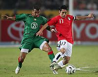 v.l. Badr El Kaddouri, Kamel Ahmed Hasan Aegypten          <br /> Africa Cup 2006 Aegypten - Marokko<br /> Egypt - Marokko<br /> Norway only