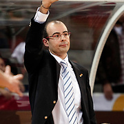 Lotos Gdynia's coach Javier FORT during their woman Euroleague group A matchday 5 Galatasaray between Lotos Gdynia at the Abdi Ipekci Arena in Istanbul at Turkey on Wednesday, November 09 2011. Photo by TURKPIX