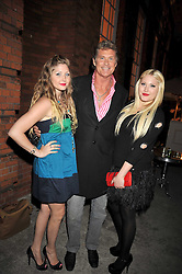 DAVID HASSELHOFF and his daughters Left to right, TAYLOR & HAYLEY at the Quintessentially and Perrier-Jouet Belle Epoque Summer Party in association with Jaguar held at The Orangery, Kensington Palace, London on 18th June 2009.