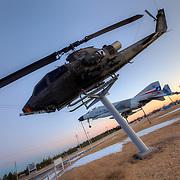 AH-1 Cobra/Huey Cobra attack helicopter on display at the B-29 All Veterans Memorial at the Pratt Municipal Airport in Pratt, Kansas.