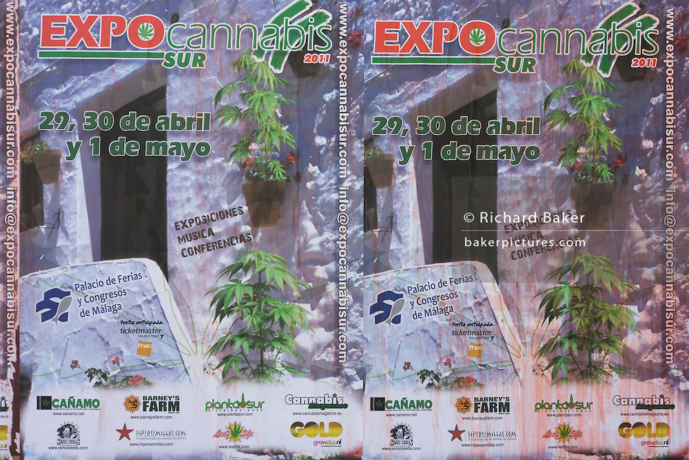 Poster advertising a symposium on Cannabis in the city of Granada, Spain.