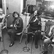 Boys of the Lough play traditional Celtic tunes in the studios of WERS=FM at Emerson College