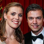 NLD/Amsterdam/20121218 - NOC/NSF Sportgala 2012, Lobke Berkhout en partner Dennis van der Laan