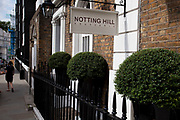 Notting Hill Brasserie, and exclusive restaurant on Kensington Park Road, West London. Made famous from the movie of the same name.