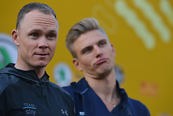 October 28, 2017 - Shanghai, China - (Left-Right) Christopher FROOME (GBR-Team SKY) and Marcel Kittel (GER-QUICK STEP FLOORS) during the 1st TDF Shanghai Criterium 2017 - Media Day..On Saturday, 28 October 2017, in Shanghai, China. (Credit Image: © Artur Widak/NurPhoto via ZUMA Press)