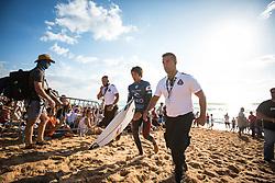 October 20, 2018 - Peniche, Portugal - Japanese surfer Kanoa Igarashi, after finishing the heat. (Credit Image: © Henrique Casinhas/NurPhoto via ZUMA Press)