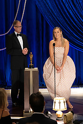 Pete Docter and Dana Murray accept the Oscar® for Animated Feature Film during the live ABC Telecast of The 93rd Oscars® at Union Station in Los Angeles, CA, USA on Sunday, April 25, 2021. Photo by Todd Wawrychuk/A.M.P.A.S. via ABACAPRESS.COM