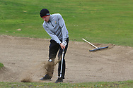 Sean Downes (Royal Dublin) the 17th during Round 3 of the Ulster Boys Championship at Donegal Golf Club, Murvagh, Donegal, Co Donegal on Friday 26th April 2019.<br /> Picture:  Thos Caffrey / www.golffile.ie