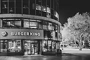 Burger King London Leicester Square during the Pandemic of Coronavirus April 23.  2020.<br /> Copyright Ki Price