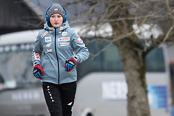 February 8, 2019 - Kinga Rajda of Poland warming up before first competition day of the FIS Ski Jumping World Cup Ladies Ljubno on February 8, 2019 in Ljubno, Slovenia. (Credit Image: © Rok Rakun/Pacific Press via ZUMA Wire)