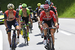 June 15, 2017 - Locarno / La Punt, Suisse - CINK Ondrej of Bahrain Merida Pro Cycling Team, DE CLERCQ Bart (BEL) Rider of Team Lotto - Soudal during stage 6 of the Tour de Suisse cycling race, a stage of 166 kms between Locarno and La Punt on June 15, 2017 in La Punt, Switserland, 15/06/2017 (Credit Image: © Panoramic via ZUMA Press)
