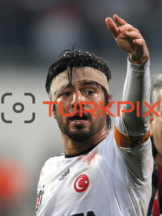 Besiktas's Ibrahim Toraman during their Turkish superleague soccer match Besiktas between Gaziantepspor at BJK Inonu Stadium in Istanbul Turkey on Tuesday, 05 January 2012. Photo by TURKPIX