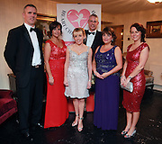 NO FEE PICTURES<br /> 9/11/14 Brendan and Doreen Healy, Dr Orla Franklin, Glen and Eileen Curruthers and Lorna Stone at the Tiny Hearts fundraising ball in aid of Heart Children Ireland at Darver Castle in County Louth. Picture:Arthur Carron