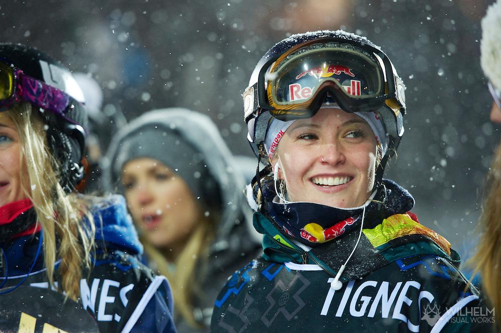 Maddy Schaffrick during Women's Snowboard SuperPipe Finals at the 2013 X Games Tignes in Tignes, France. ©Brett Wilhelm/ESPN