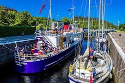 Vessels negotiating the locks on the Caledonian Canal at Dochgarroch, near Inverness<br /> <br /> (c) Andrew Wilson   Edinburgh Elite media